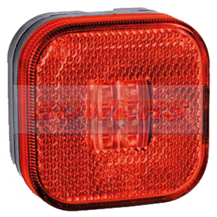 12v/24v Square Red LED Rear Marker Lamp/Light