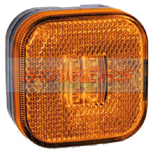 12v/24v Square Amber LED Side Marker Lamp/Light