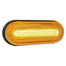 12v/24v Category 5 Cat 5 Amber Combined LED Side Marker/Indicator Lamp/Light FT-071