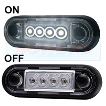 Easy Fit Slim White LED Marker Light Ideal For Truck & Van Bars
