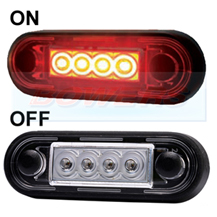 Easy Fit Slim Red LED Marker Light Ideal For Truck & Van Bars