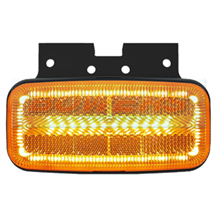 12v/24v Category 5 Cat 5 Amber Combined LED Side Marker/Indicator Lamp/Light FT-080 With Bracket