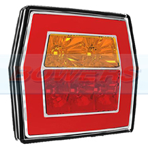 12v/24v Universal LED Glow Ring Rear Combination Square Tail Lamp/Light