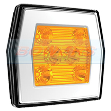 12v/24v Universal Square LED Neon Front Combination Lamp/Light