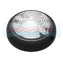 Large Black Round 12v/24v LED Interior Light