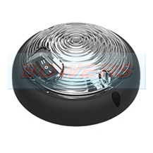 Large Black Round 12v/24v Switched LED Interior Light