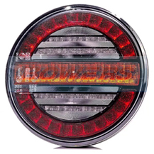 12v/24v Universal LED Rear Hamburger Light Lamp With Dynamic Progressive Sequential Indicator
