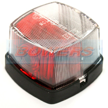 Hella 883 2XS358030441 Red & Clear Caravan/Motorhome Side Rear Marker Lamp/Light