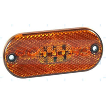 12v Amber Oval LED Caravan Motorhome Trailer Side Marker Light Lamp