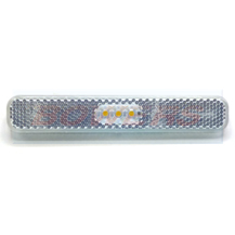 12v White Rectangular Stick On Self Adhesive LED Caravan Motorhome Trailer Front Marker Light Lamp