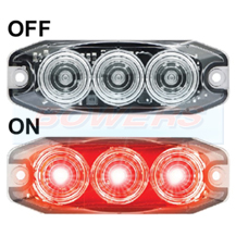 LED Autolamps 11RCM 12v/24v Compact Low Profile LED Clear Rear Stop/Tail Light Lamp
