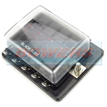 Single Power In 10 Way Standard Blade Fuse Box With LED Failure Warning Lights