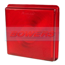Rubbolite 5428 Square Red Rear Stop/Tail Lamp/Light Lens