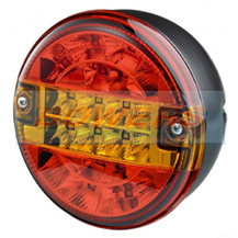Truck-Lite 12v/24v Universal LED Rear 140mm Combination Hamburger/Cheeseburger Tail Lamp/Light
