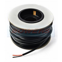 Black & Red 25A Thin Wall Twin Core Cable 2x28/0.30mm 2.0mm² 100m Roll