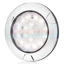 WAS W142 12v/24v Universal Chrome LED Hamburger Reverse Light Lamp