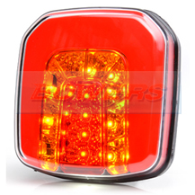 WAS W145 12v/24v Universal Square Neon LED Rear Combination Tail Light Lamp
