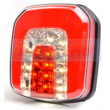 WAS W146 12v/24v Universal Square Neon LED Combined Rear Tail, Fog And Reverse Light Lamp