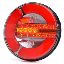 WAS W153 12v/24v Universal Neon LED Rear Hamburger Light Lamp With Dynamic Progressive Sequential Indicator