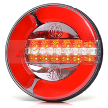 WAS W154 12v/24v Universal Neon LED Rear Hamburger Combined Tail, Fog And Reverse Light Lamp