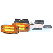 WAS W158 12v/24v Category 5 Cat 5 Amber Combined LED Side Marker/Indicator Lamp/Light