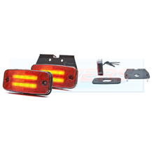 WAS W158 12v/24v Red Rear LED Marker Light Lamp