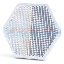 White Clear Hexagonal Stick On Self Adhesive Front Reflector