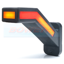 WAS W168.6DD 12v/24v Left Hand Red White Amber Neon LED End Outline Stalk Marker Light Lamp With Dynamic Indicator Progressive Sequential Indicator