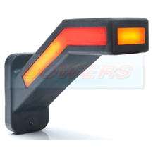 WAS W168.6DD 12v/24v Right Hand Red White Amber Neon LED End Outline Stalk Marker Light Lamp With Dynamic Indicator Progressive Sequential Indicator