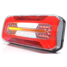 WAS W185DD 12v/24v Neon LED Rear Combination Light Lamp With Dynamic Indicator