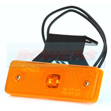 WAS W44 12v/24v Amber Side LED Marker Light Lamp With Reflector And Bracket