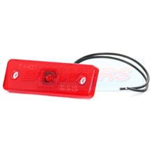 WAS W44 12v/24v Red Rear LED Marker Light Lamp With Reflector