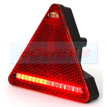 WAS W68L L/H Triangle LED Rear Combination Trailer Light Lamp