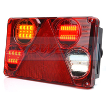 WAS W70DL L/H 12V 24V LED Rear Combination Trailer Light Lamp
