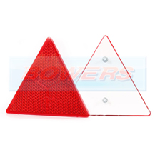 Bolt On Red Reflective Triangle For Trailers Caravans