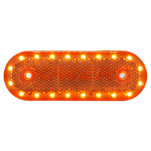 WAS W47WW 12v/24v Amber Side LED Marker Light Lamp