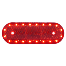 WAS W47WW 12v/24v Red Rear LED Marker Light Lamp