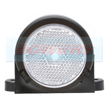 WAS W25RR 12v/24v White Front Roof Cab Top Wing Mount LED Marker Light Lamp With Reflector