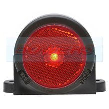 WAS W25RR 12v/24v Red Rear Roof Cab Top Wing Mount LED Marker Light Lamp With Reflector