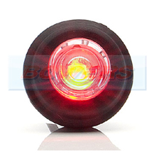 WAS W80 12v/24v LED Push In Round Red Rear Marker Light Lamp