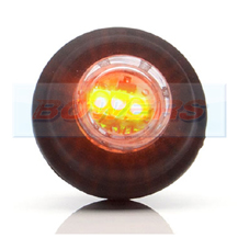 WAS W80 12v/24v LED Push In Round Amber Side Marker Light Lamp