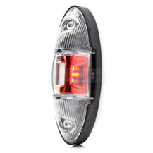 WAS W105 12v/24v Red White LED End Outline Side Marker Light Lamp