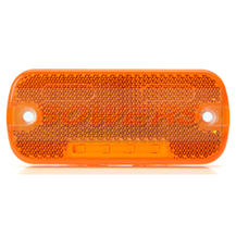 WAS W128 12v/24v Amber Side LED Marker Light Lamp With Reflector