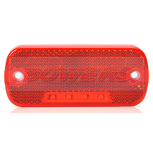 WAS W128 12v/24v Red Rear LED Marker Light Lamp With Reflector