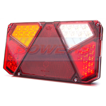 WAS W125DL L/H 12V 24V LED Rear Combination Trailer Light Lamp