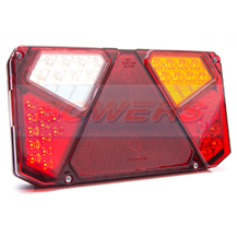 WAS W125DP R/H 12V 24V LED Rear Combination Trailer Light Lamp