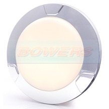 WAS LW12DS 12v/24v Opaque Large Round Dimmable LED Interior Light Lamp