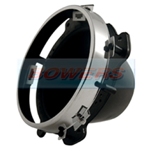 "Wipac S5538 5 3/4 5.75"" Inch Headlight Black Plastic Backing Bowl With Retainer Ring & Fixings"
