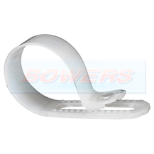 White Nylon P Clips For 4-6mm Cable 25 Pack