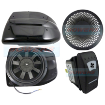 Black 12v Low Profile Motorised Turbo Roof Air Vent & Extractor Fan